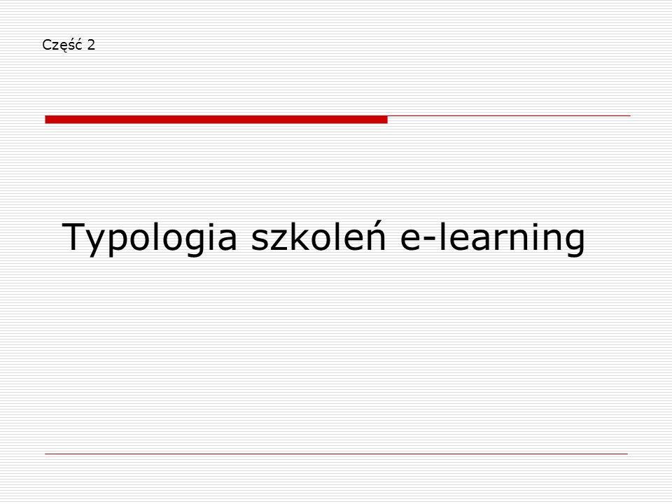 Część 2 Typologia szkoleń e-learning