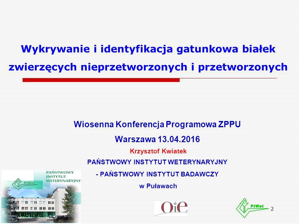 Notyfikacje w RASFF dotyczące występowania białka przeżuwaczy (styczeń 2015 – luty 2016) 3/3 Data Typ powiadomie nia Zgłoszo ne przez: Kraje: (O) - pochodzenia, (D) - dystrybucji Notyfikacja 03/08/2 015 InformacyjneGermanyAustria, Commission Services, Germany (D), Poland (D/O) cadmium (6.66 mg/kg - ppm) in complete feed for dogs from Poland 10/08/2 015 InformacyjneItalyGermany (O), Italy (D/O), Pakistan, Portugal (O), Spain (O) presence of ruminant DNA in complete feed for trouts from Italy, with raw material from Germany, Spain and Portugal 07/09/2 015 InformacyjneCyprusCyprus (D), Italy (D/O), Spain (D) presence of ruminant DNA in feed for seabream/dorada from Italy, via Spain 11/09/2 015 InformacyjneItalyCommission Services, Italy (D), Spain (O) presence of ruminant DNA in fish feed for trout from Spain 12/11/2 015 InformacyjneSpainPortugal (D), Spain (O) presence of ruminant DNA in fish feed from Spain 01/12/2 015 InformacyjneBelgiumBelgium, Brazil (D/O), India (D), Portugal (D) dioxins (5.42 pg WHO TEQ/g) in complementary feed for fish from Brazil 04/12/2 015 InformacyjneBelgiumBelgium (D), Denmark (D), France (O), Germany (D), Iceland (D), Ireland (D), United Kingdom (D) lead (145 mg/kg - ppm) in mineral feed for sheep and goats from France 18/01/2 016 InformacyjneDenmarkCzech (D), Denmark (D), France (D), Iceland (O), Lithuania (D), Netherlands (D), Norway (D), Poland (D), Sweden (D), UK (D) mercury (0.88; 1.03; 0.97 mg/kg - ppm) in petfood (fish snack) from Iceland