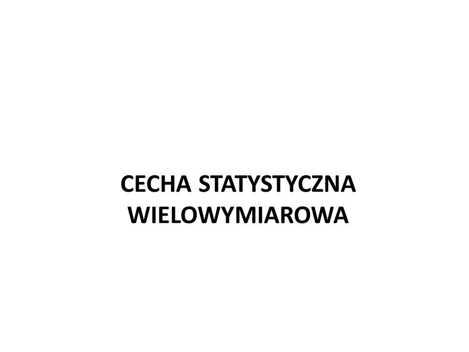 CECHA STATYSTYCZNA WIELOWYMIAROWA