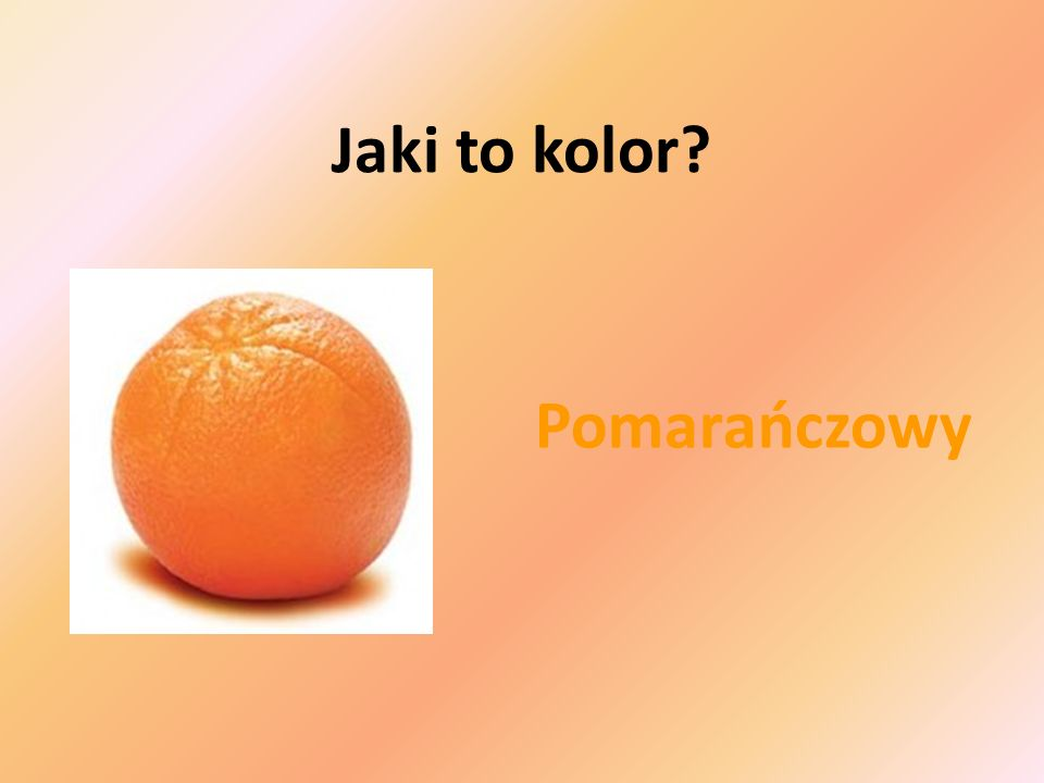 Zielony Jaki to kolor?