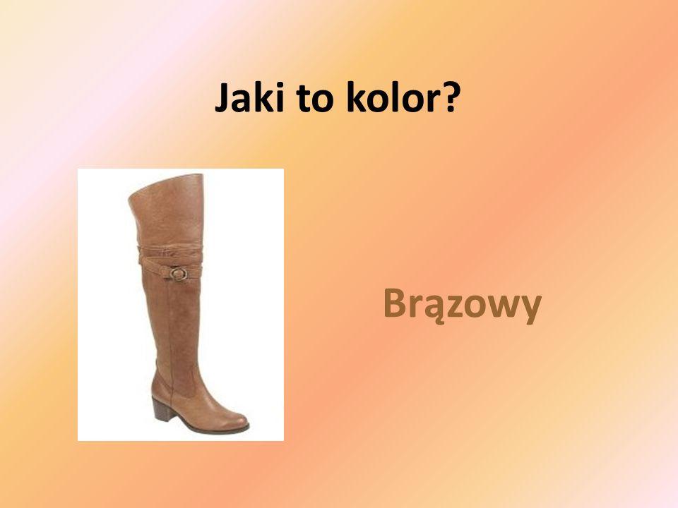 Brązowy Jaki to kolor?