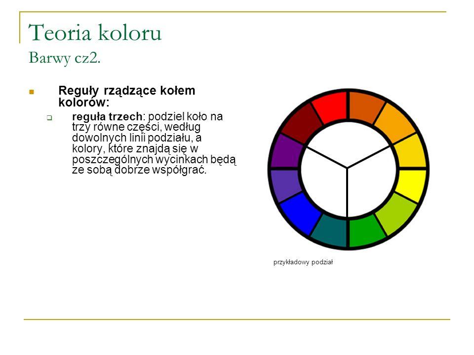 Harmonijne kombinacje kolorów Monochromatyczny schemat kolorów  to taki, w którym występuje jedna barwa w wariantach różniących się jasnością i nasyceniem.