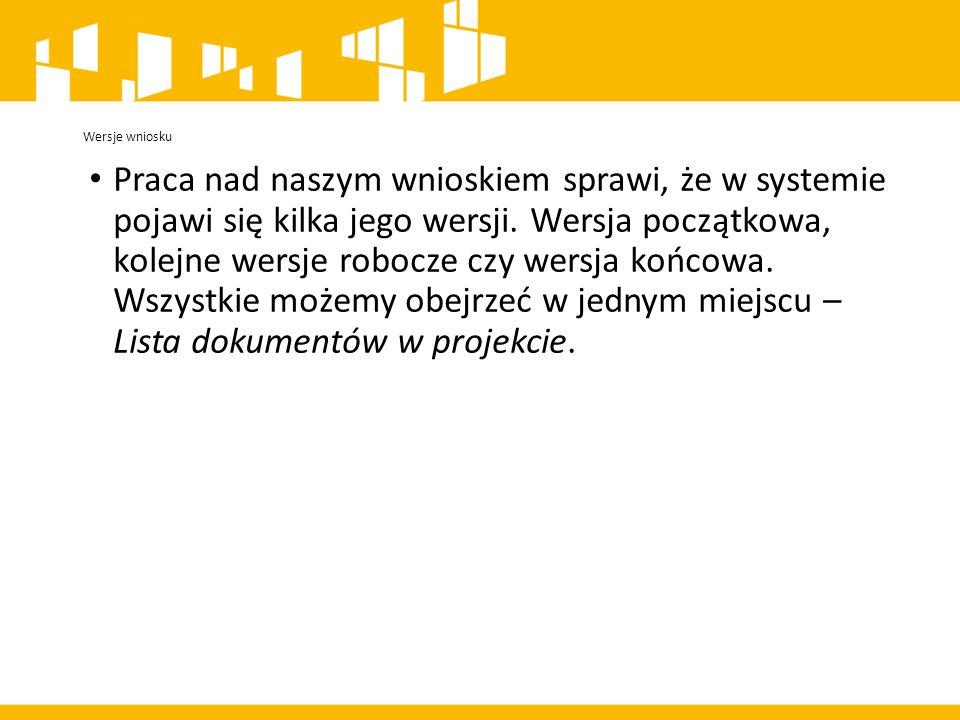 Praca nad naszym wnioskiem sprawi, że w systemie pojawi się kilka jego wersji.