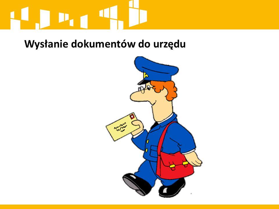 Wysłanie dokumentów do urzędu