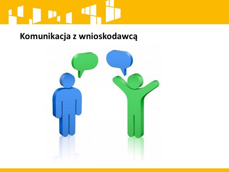 Komunikacja z wnioskodawcą