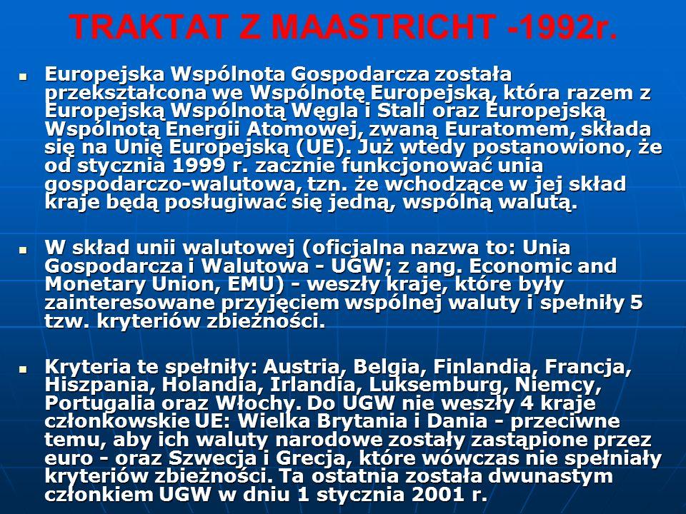 TRAKTAT Z MAASTRICHT -1992r.