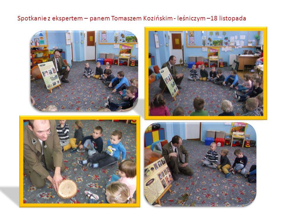 Spotkanie z ekspertem – panem Tomaszem Kozińskim - leśniczym –18 listopada