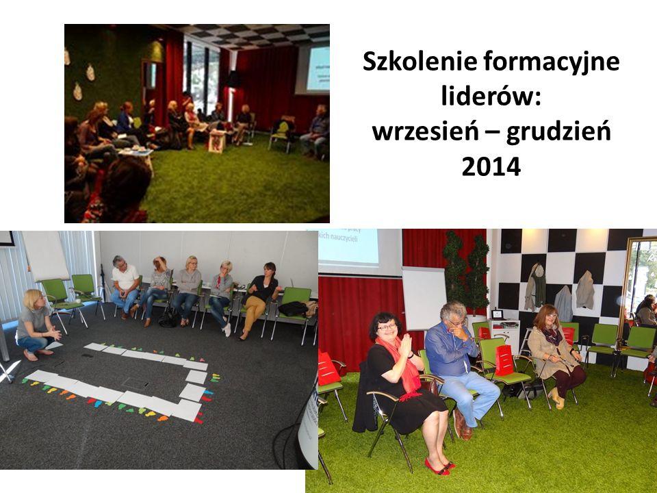 Szkolenie formacyjne liderów: wrzesień – grudzień 2014
