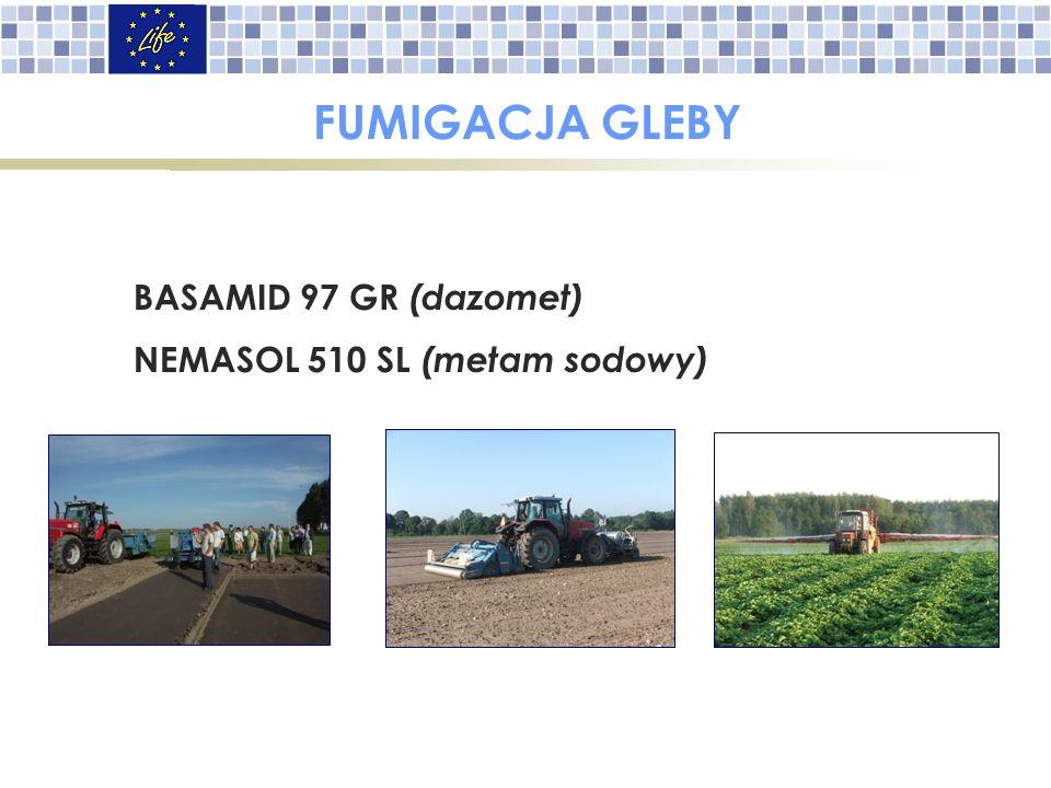 FUMIGACJA GLEBY BASAMID 97 GR (dazomet) NEMASOL 510 SL (metam sodowy))