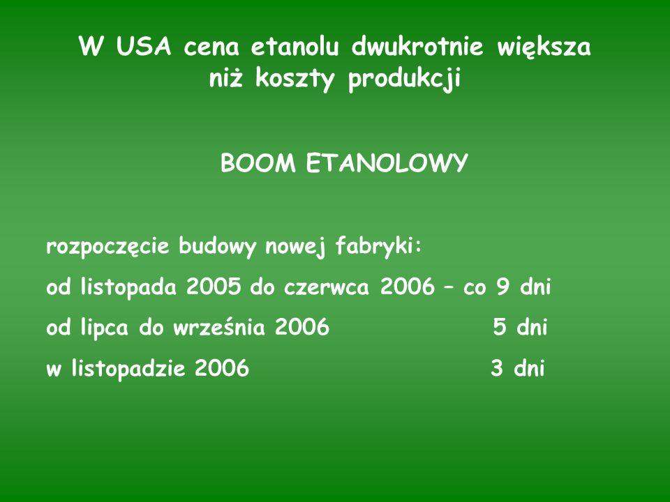Charakterystyka budowanych fabryk etanolu paliwowego zdolnych do rozpoczęcia produkcji w 2008 roku Państwo Firma Zdolność produk- Surowiec do cyjna (mln l) produkcji Austria Agrana zboża Belgia BioWanze S.A.