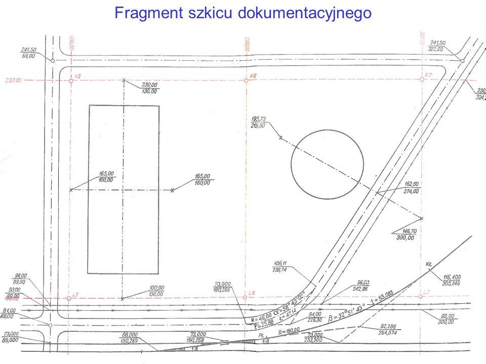 Fragment szkicu dokumentacyjnego