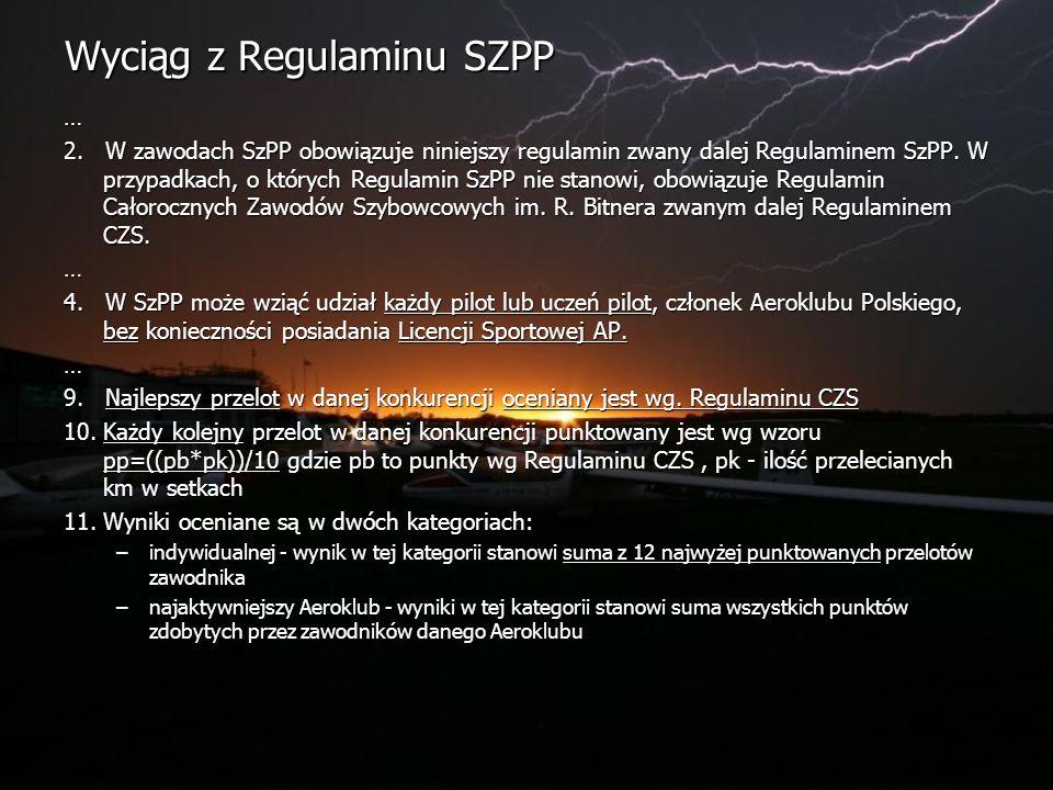 Wyciąg z Regulaminu SZPP … 2.