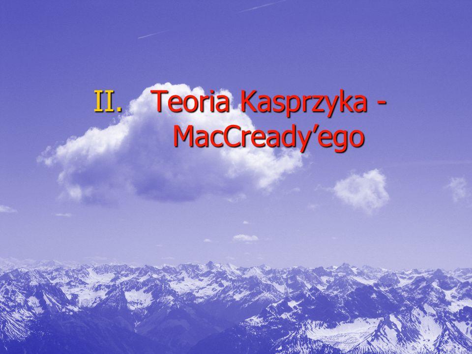 II.Teoria Kasprzyka - MacCready'ego