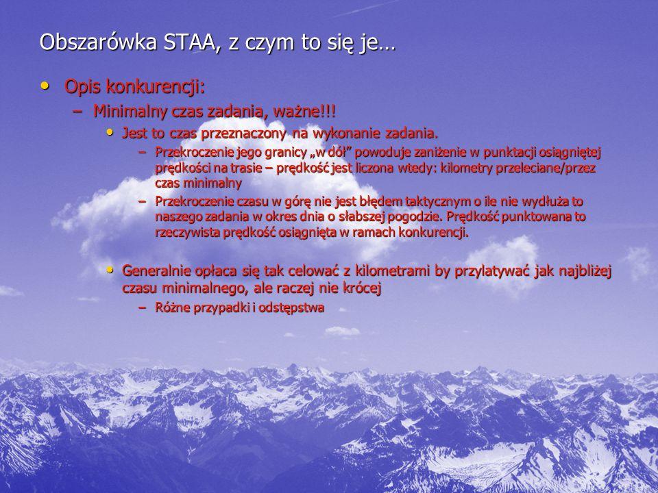 Obszarówka STAA, z czym to się je… Opis konkurencji: Opis konkurencji: –Minimalny czas zadania, ważne!!.