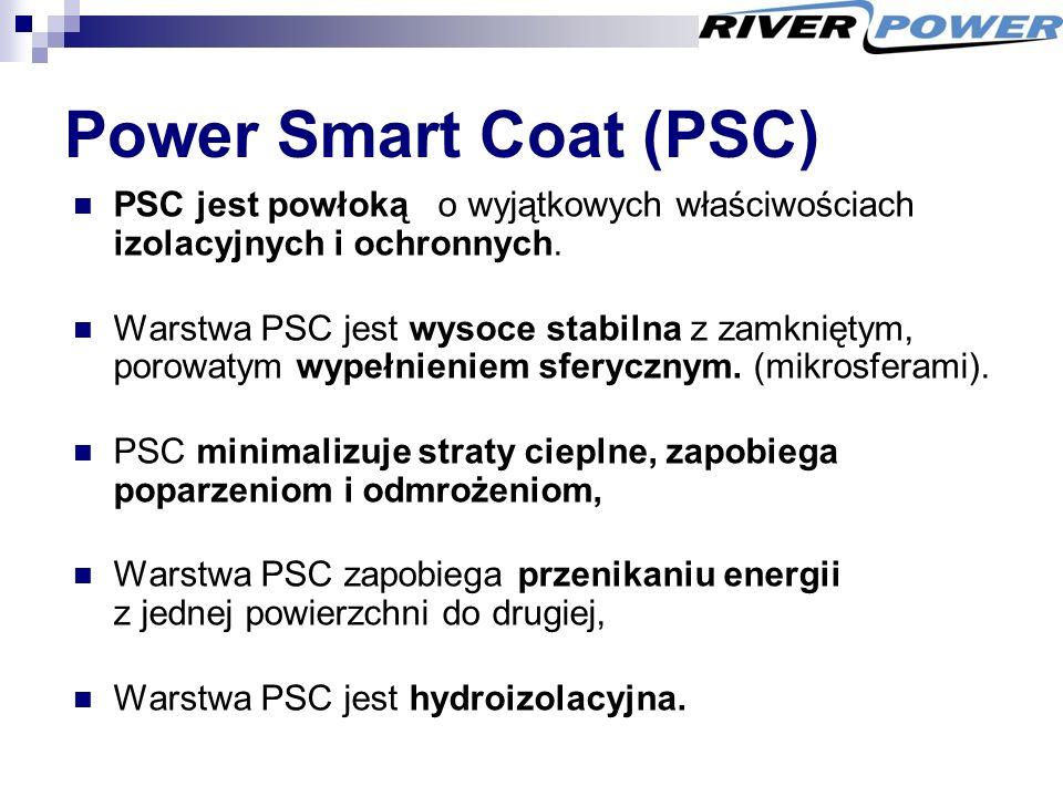 Power Smart Coat (PSC) PSC jest powłoką o wyjątkowych właściwościach izolacyjnych i ochronnych.