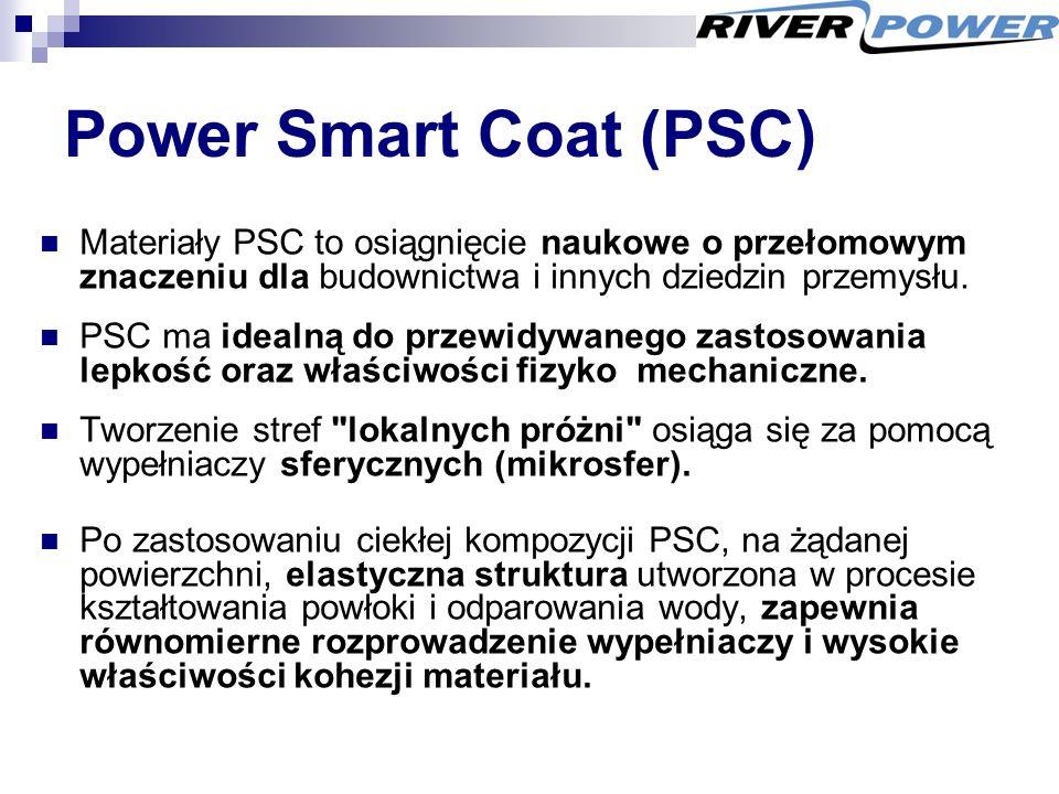 Power Smart Coat (PSC) Materiały PSC to osiągnięcie naukowe o przełomowym znaczeniu dla budownictwa i innych dziedzin przemysłu.