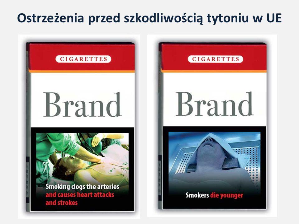 Ostrzeżenia przed szkodliwością tytoniu w UE
