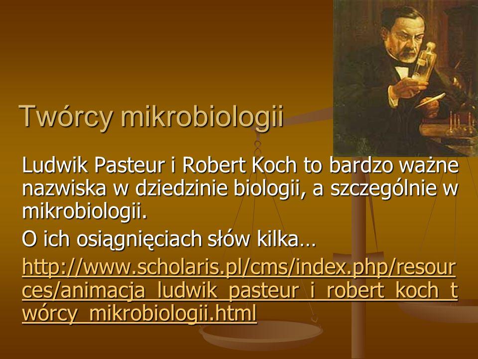 Twórcy mikrobiologii Ludwik Pasteur i Robert Koch to bardzo ważne nazwiska w dziedzinie biologii, a szczególnie w mikrobiologii. O ich osiągnięciach s