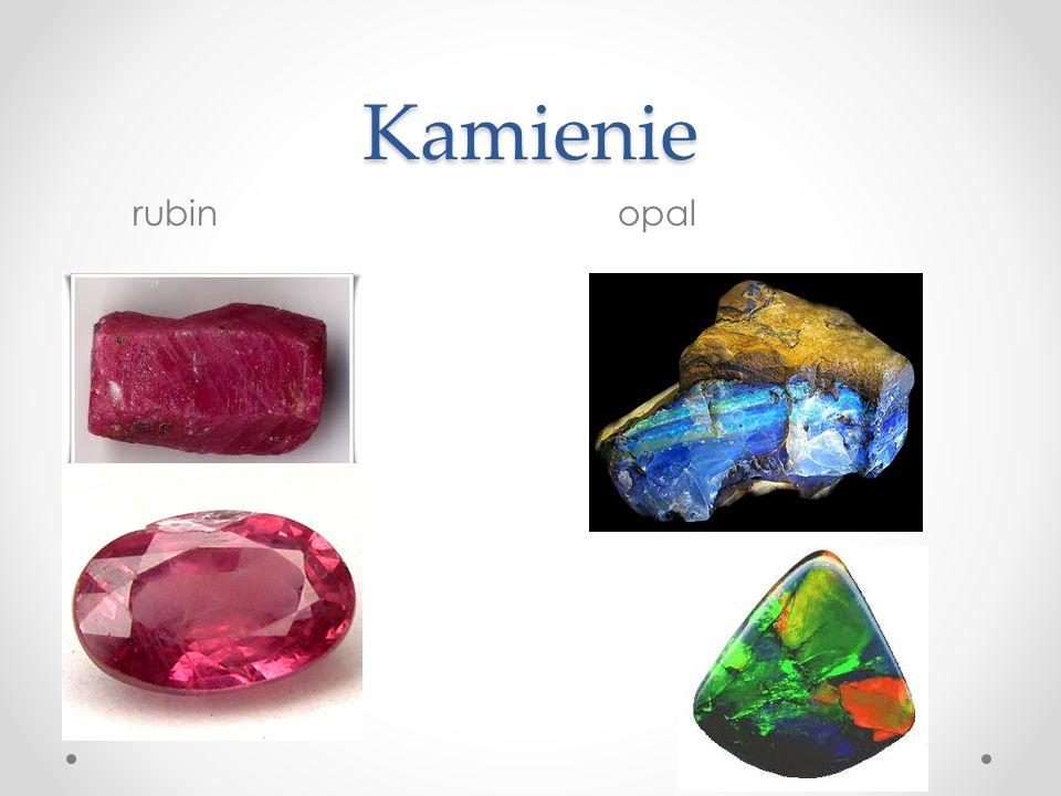 Kamienie rubin opal