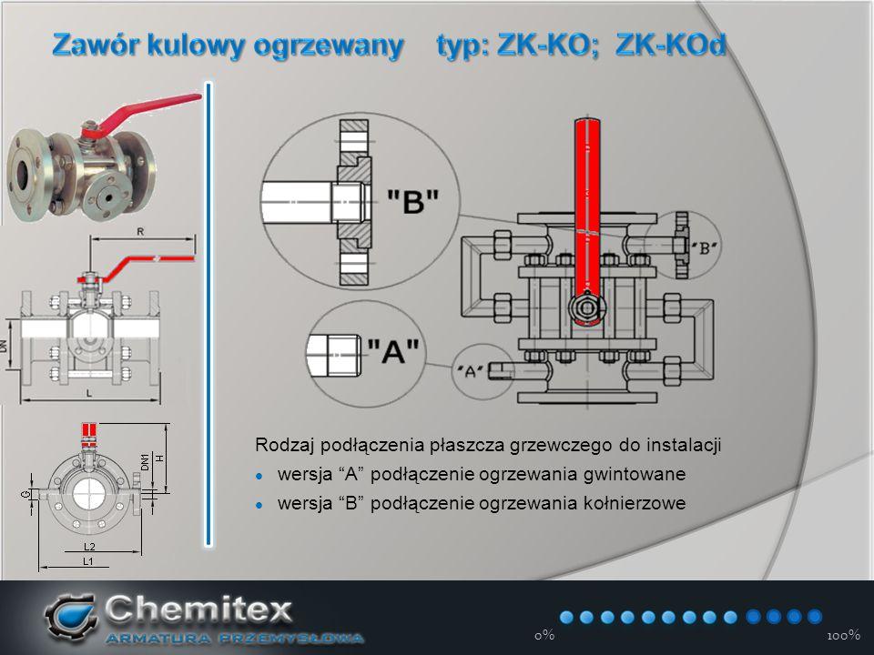 12-3-17 0%100% Rodzaj podłączenia płaszcza grzewczego do instalacji wersja A podłączenie ogrzewania gwintowane wersja B podłączenie ogrzewania kołnierzowe