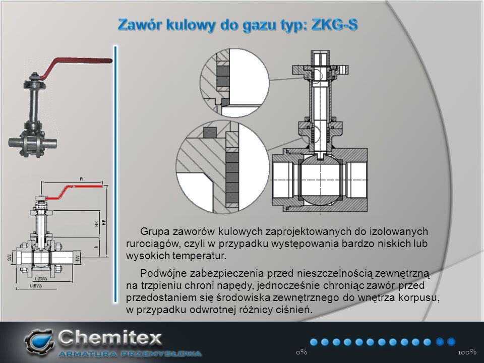12-3-17 0%100% Grupa zaworów kulowych zaprojektowanych do izolowanych rurociągów, czyli w przypadku występowania bardzo niskich lub wysokich temperatur.