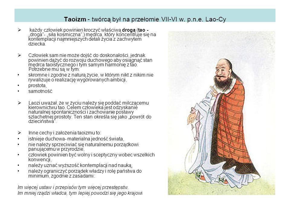 Taoizm - twórcą był na przełomie VII-VI w. p.n.e.