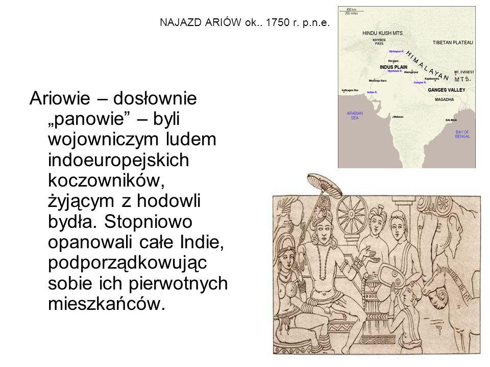 NAJAZD ARIÓW ok.. 1750 r. p.n.e.