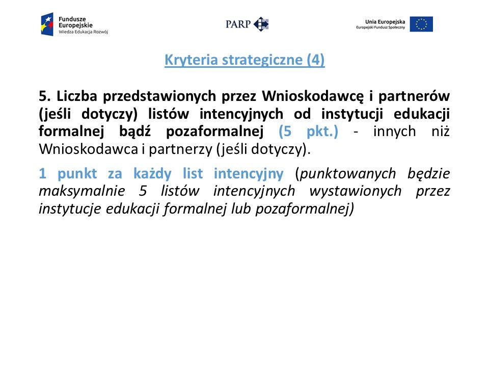 Kryteria strategiczne (4) 5.