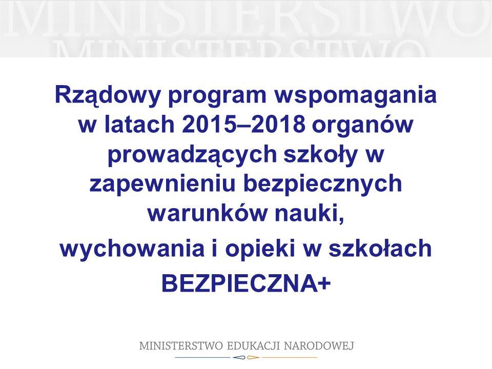 Rządowy program wspomagania w latach 2015–2018 organów prowadzących szkoły w zapewnieniu bezpiecznych warunków nauki, wychowania i opieki w szkołach BEZPIECZNA+