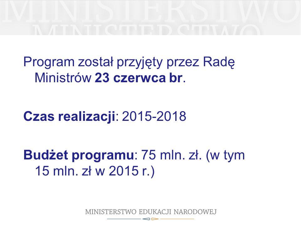 Program został przyjęty przez Radę Ministrów 23 czerwca br.