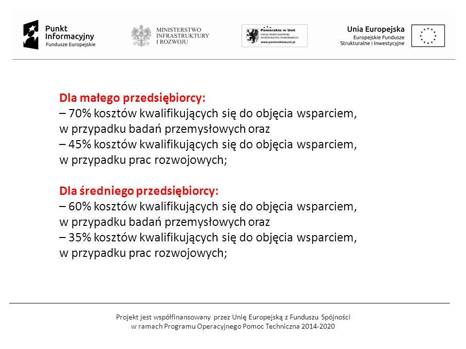 Projekt jest współfinansowany przez Unię Europejską z Funduszu Spójności w ramach Programu Operacyjnego Pomoc Techniczna 2014-2020 W przypadku szerokiego rozpowszechniania wyników projektu zgodnie z § 14 rozporządzenia Ministra Nauki i Szkolnictwa Wyższego z dnia 25 lutego 2015 r.