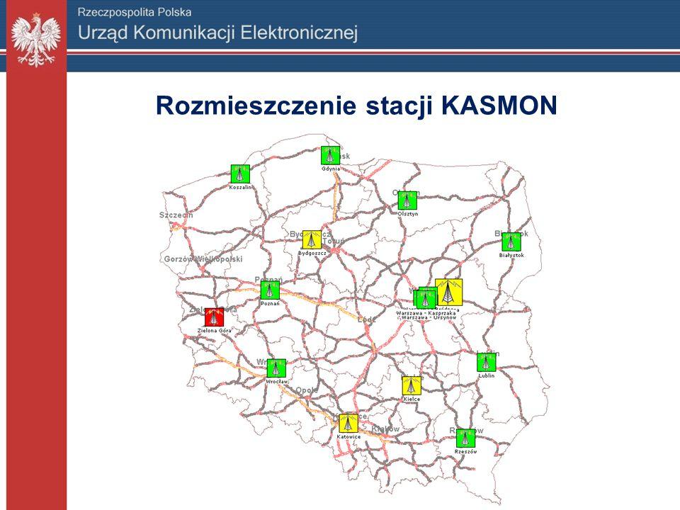 Rozmieszczenie stacji KASMON