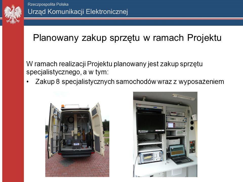 Planowany zakup sprzętu w ramach Projektu W ramach realizacji Projektu planowany jest zakup sprzętu specjalistycznego, a w tym: Zakup 8 specjalistycznych samochodów wraz z wyposażeniem