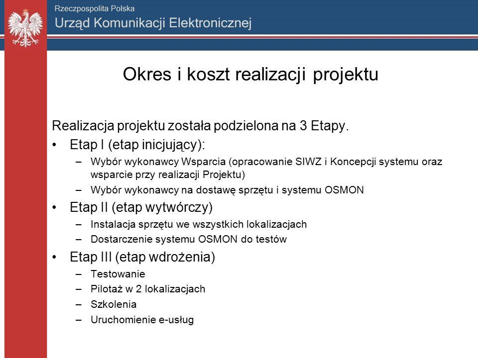 E-usługi w projekcie OSMON W ramach realizacji projektu OSMON udostępnionych zostanie 7 usług: Zgłoszenie zakłóceń elektromagnetycznych na ustandaryzowanym formularzu.