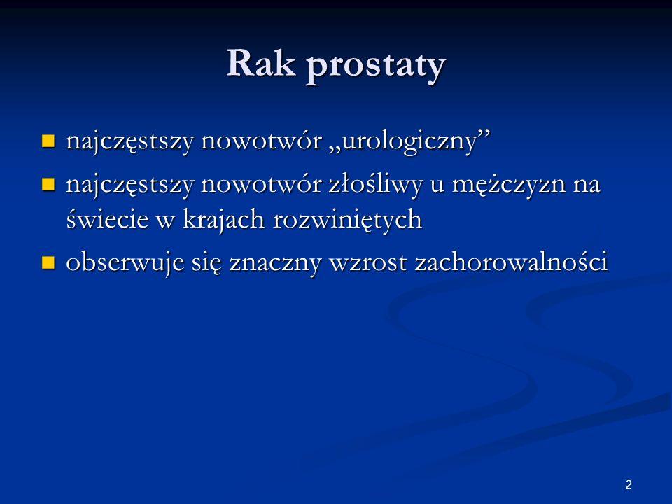 """2 Rak prostaty najczęstszy nowotwór """"urologiczny"""" najczęstszy nowotwór """"urologiczny"""" najczęstszy nowotwór złośliwy u mężczyzn na świecie w krajach roz"""