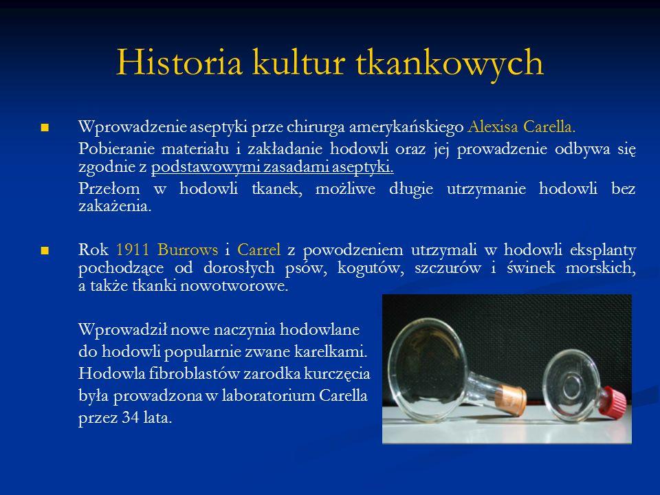 Historia kultur tkankowych Rok 1914r.Albertowi H.