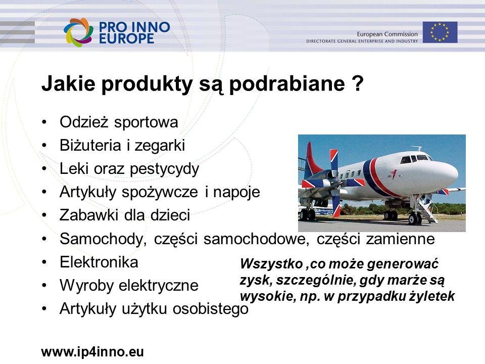 www.ip4inno.eu Jakie produkty są podrabiane .