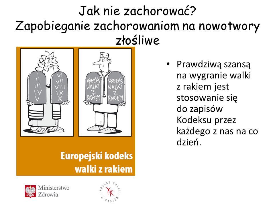 Europejskiego Kodeksu Walki z Rakiem Zalecenia