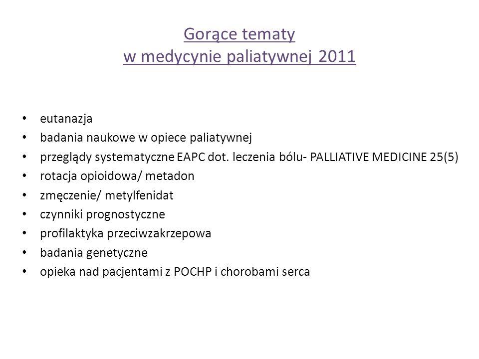 eutanazja badania naukowe w opiece paliatywnej przeglądy systematyczne EAPC dot.