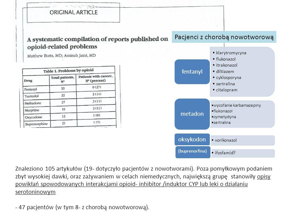 Znaleziono 105 artykułów (19- dotyczyło pacjentów z nowotworami).