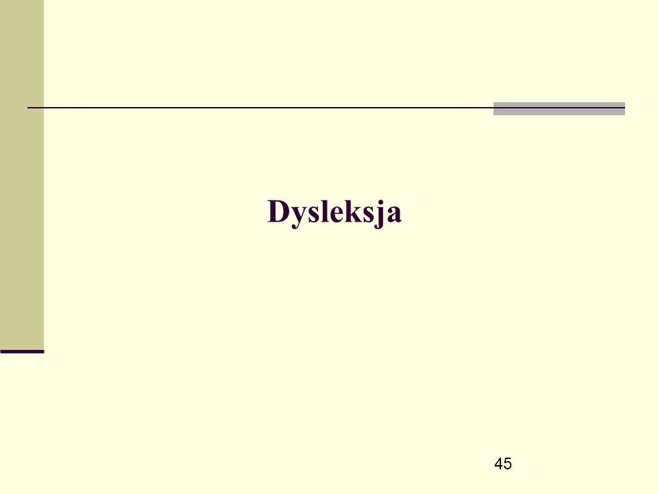 45 Dysleksja