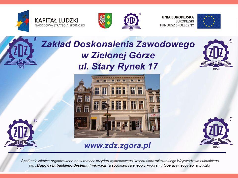 Zakład Doskonalenia Zawodowego w Zielonej Górze ul.