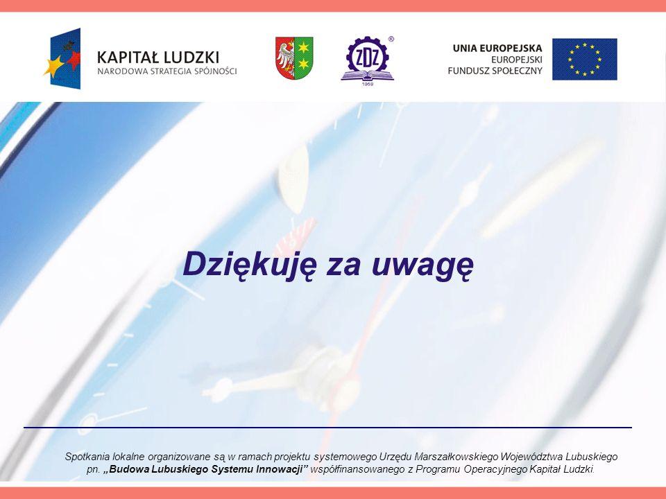 Spotkania lokalne organizowane są w ramach projektu systemowego Urzędu Marszałkowskiego Województwa Lubuskiego pn.
