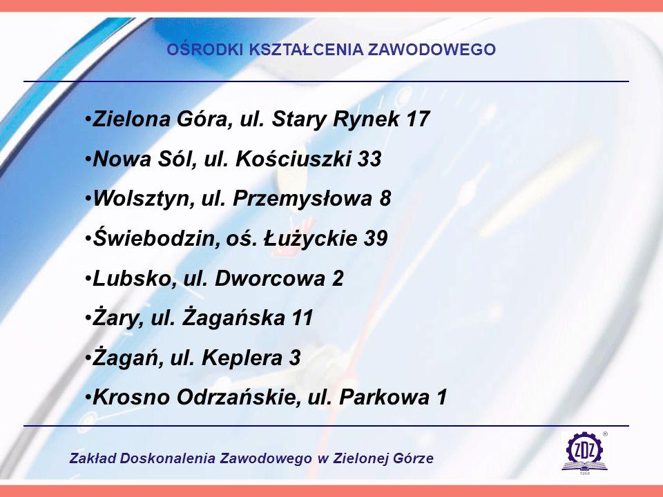 Zakład Doskonalenia Zawodowego w Zielonej Górze Celem projektu jest wzbogacenie procesu kształcenia w 10 szkołach województwa lubuskiego, a tym samym lepsze przygotowanie ich absolwentów do funkcjonowania na rynku pracy.