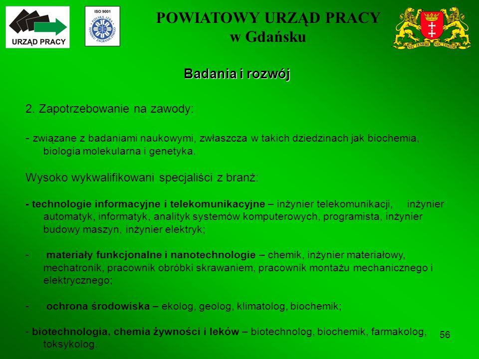 POWIATOWY URZĄD PRACY w Gdańsku 56 Badania i rozwój 2.