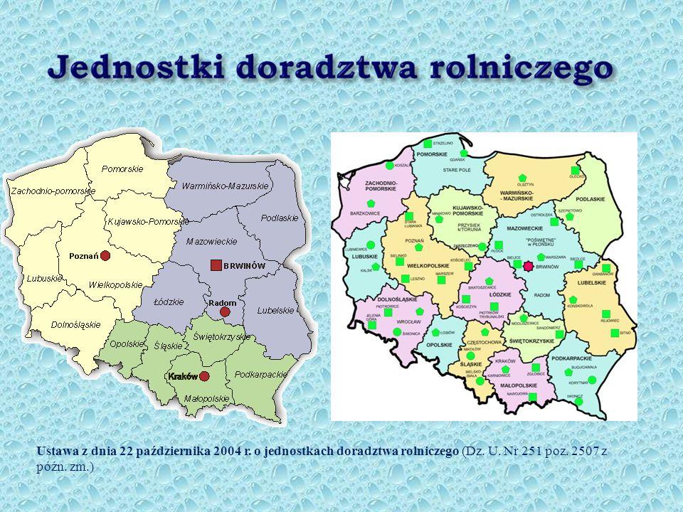 Ustawa z dnia 22 października 2004 r.o jednostkach doradztwa rolniczego (Dz.