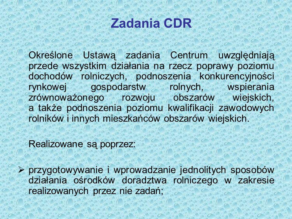 Wydawnictwa szkoleniowe i informacyjne e– Biuletyn Informacyjny CDR ZAGADNIENIA DORADZTWA ROLNICZEGO