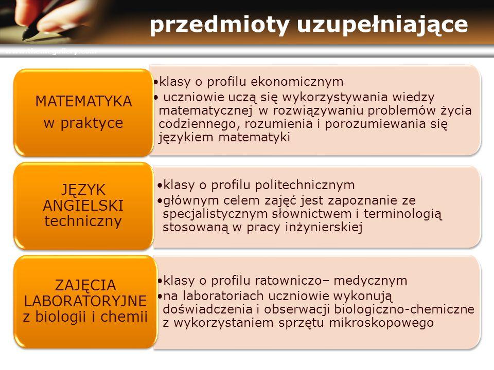 www.themegallery.com przedmioty uzupełniające klasy o profilu ekonomicznym uczniowie uczą się wykorzystywania wiedzy matematycznej w rozwiązywaniu pro