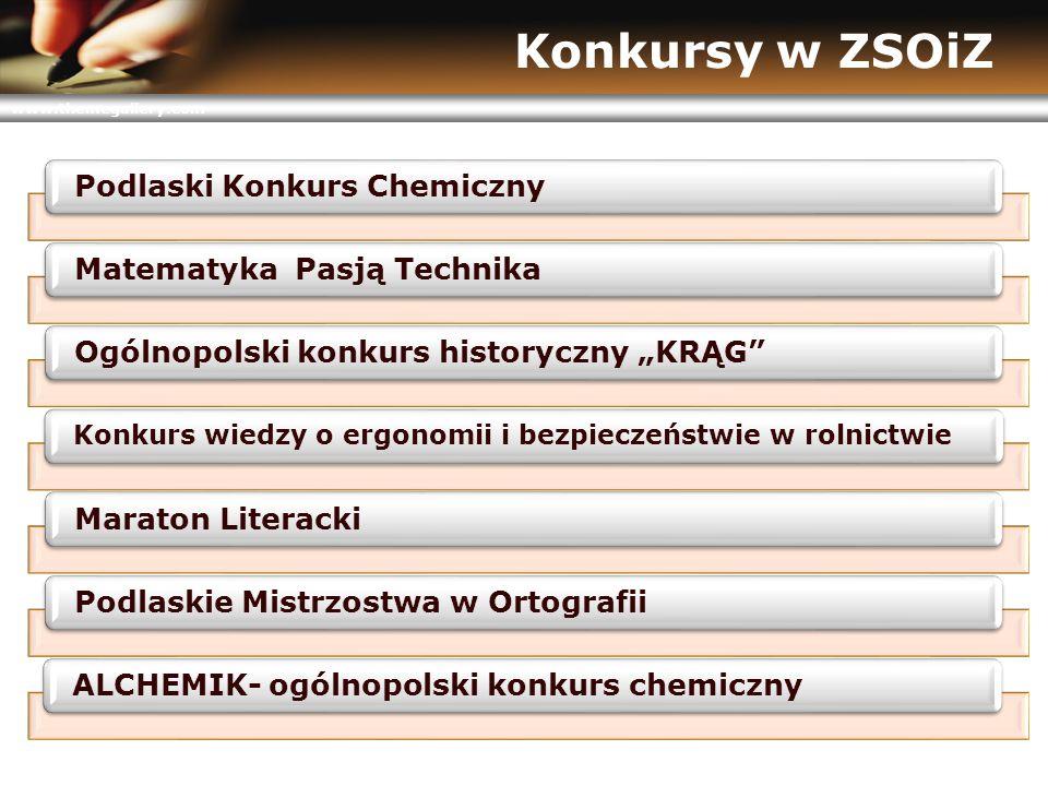 """www.themegallery.com Konkursy w ZSOiZ Podlaski Konkurs ChemicznyMatematyka Pasją TechnikaOgólnopolski konkurs historyczny """"KRĄG"""" Konkurs wiedzy o ergo"""