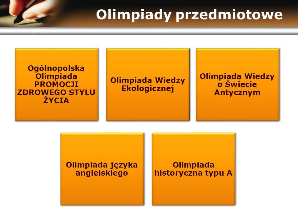 www.themegallery.com Olimpiady przedmiotowe